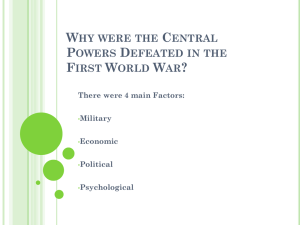 Why were the Central Powers Defeated in the