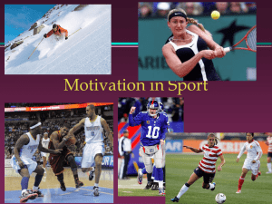 Motivation in Sport
