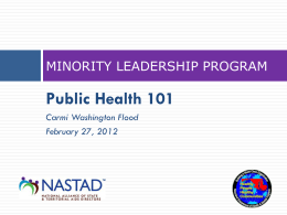 MLP In-Person Meeting Presentation: Public Health 101