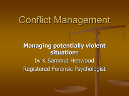 Conflict management – How to deal with volatile patients
