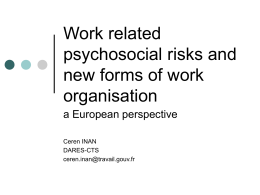 a European perspective - `Addressing Quality of Work in Europe