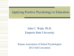 Powerpoint - Kansas Association of School Psychologists
