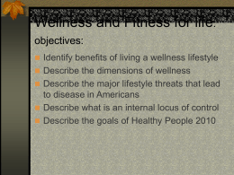 Wellness and Fitness for life Chapter 1