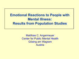 Emotional Reactions to People with Mental Illness