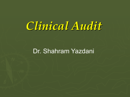 Introduction to Clinical Audit 2