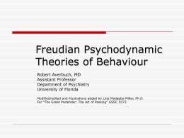Freudian Psychodynamic Theories of Behaviour