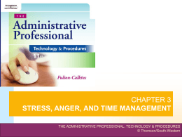 chapter 3 stress, anger, and time management