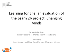 Learning for Life: an evaluation of the Learn 2b project