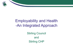 An integrated approach - Employability in Scotland