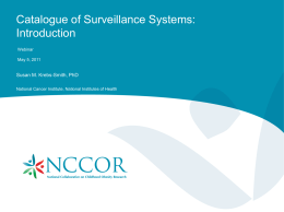NCCOR_Catalogue Webinar - NCCOR National Collaborative on