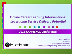 Online Career Learning Interventions