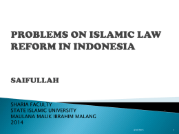 Problems in implicating sharia in national law system are