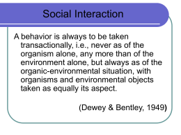Lecture 10: Social Interaction