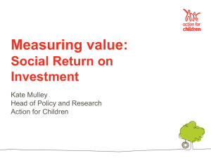 Action for Children Social Return on Investment kate_mulley