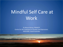 Mindful self care workshop - The Adelaide Pre