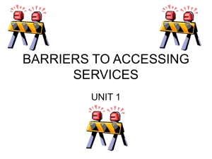 F910 Barriers to accessing services