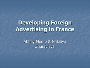 Developing Foreign Advertising in France