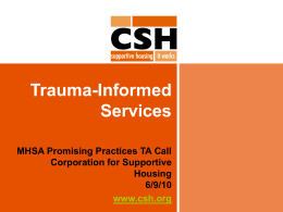 Trauma-Informed Services