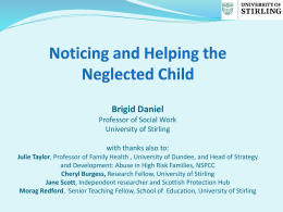 Noticing and Helping the Neglected Child - Propel