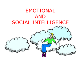 EMOTIONAL AND SOCIAL INTELLIGENCE