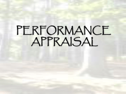 The appraisal of each employee`s performance