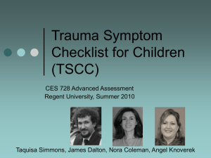 Trauma Symptom Checklist for Children (TSCC)