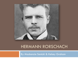 Hermann Rorschach - Hunting Hills High School
