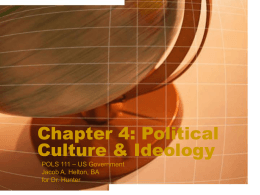 Chapter 4: Political Culture & Ideology