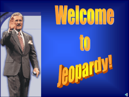 Chapter 1 Jeopardy Game