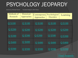 Fischer Psychology Powerpoint