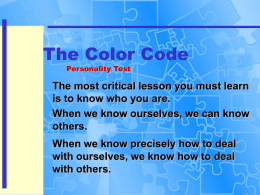Color Code Explanation