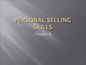 Personal Selling Skills