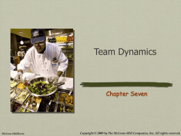 Team Dynamics - Salisbury University