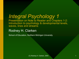 Integral Psychology 1