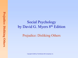 Prejudice: Disliking Others