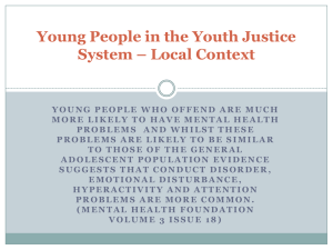 Young People in the Youth Justice System