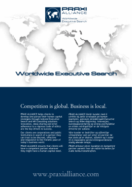 Competition is global. Business is local.