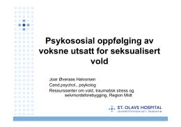 Psykososial oppfølging av voksne utsatt for seksualisert