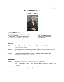 Download CV as PDF - Thijs Broekhuizen