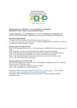 Neuron Neurone agenda_National Symposium on ADHD 2015
