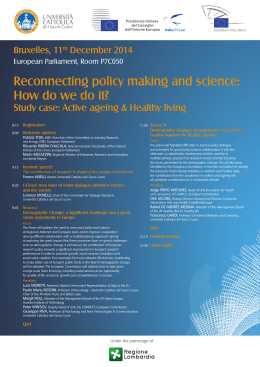 Reconnecting policy making and science: How do we do it?