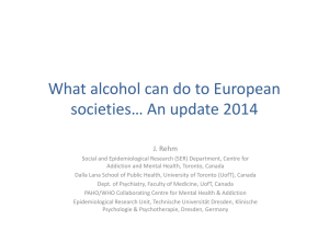 What alcohol can do to European societies… An update