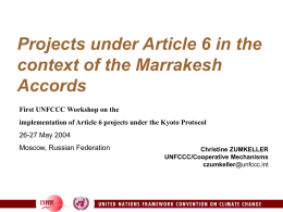 Article 6 in the context of the Marrakesh Accords