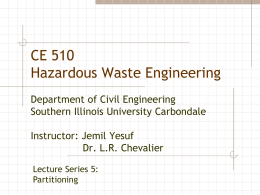 Lecture series 5 - Civil and Environmental Engineering | SIU