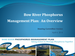Bow River Phosphorus Management Plan: An Overview