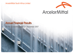 2008: Webcast - Annual results