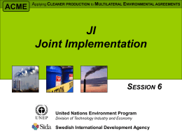 Kyoto and Joint Implementation (JI)