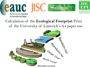 Calculation of the Ecological Footprint of your Institution`s A4