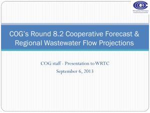 COG Flow Projections September 6, 2013