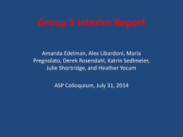 Interim Project Report group 5